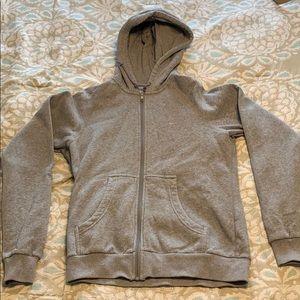 Nike Heather Grey Full-Zip Hoodie Medium